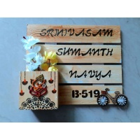 Wooden nameplate design for home
