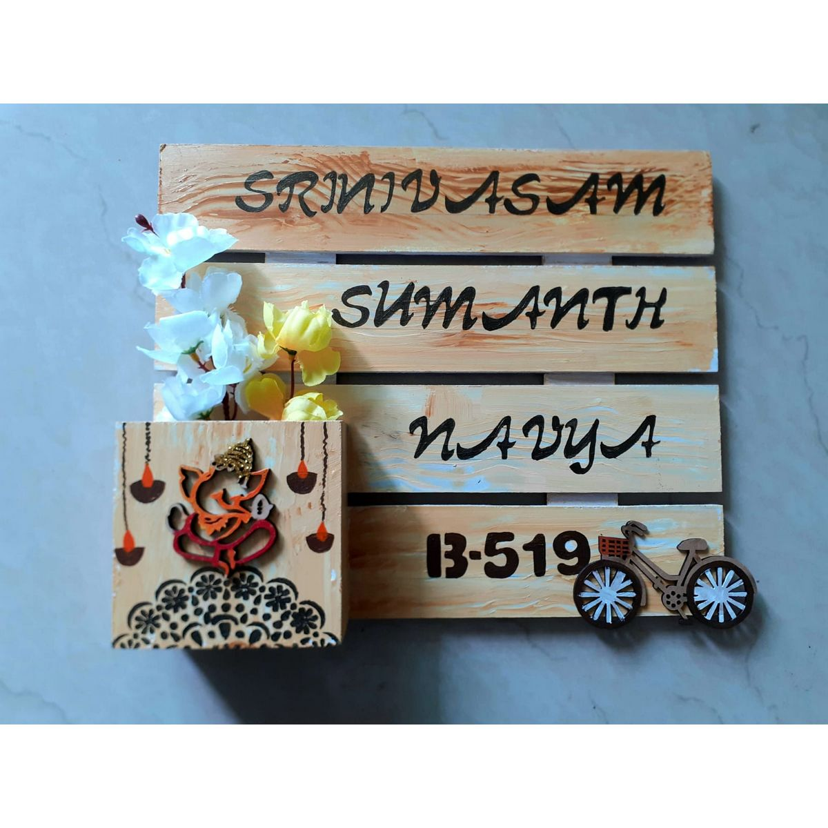Wooden Nameplate Design For Home  Wooden nameplate design for home