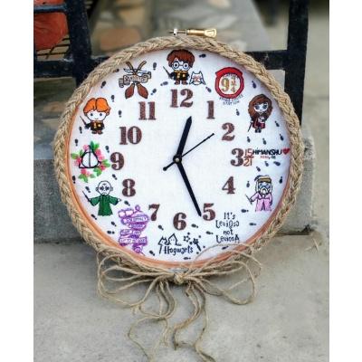 Hand Embroidered Theme Framed ClocksHarry Potter  Hand Embroidered Theme Framed Clocksharry porter