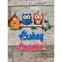 Customized Unique  Name Plate Design For Homes Engraved nameplate akshay kids nameplate