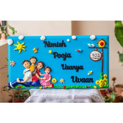 Handcrafted Customized Big Family Nameplate  family nameplate design