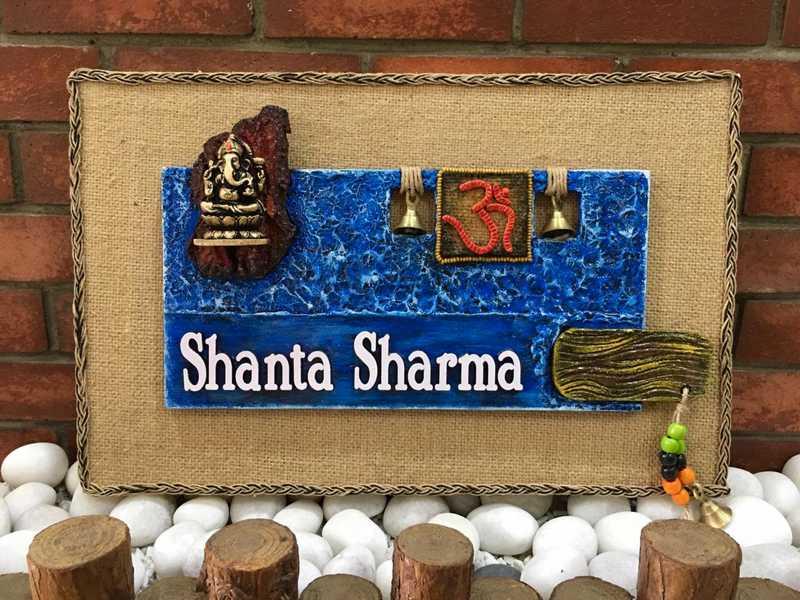 handmade wooden nameplate online