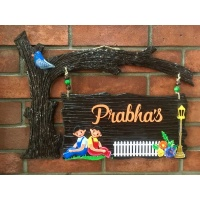 buy unique name plate for home online 010