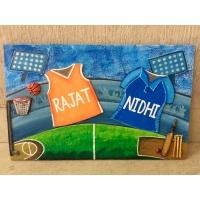 Animal Theme Kids Name plate  cricket basket ball house nameplate bangalore mumbai delhi 001