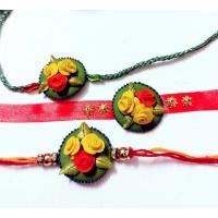 customize flower rakhi