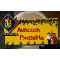 Handmade Customized Couple Nameplate For Home