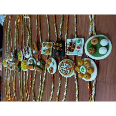 Handicraft Customized Food Rakhi For Your Brother  food rakhi
