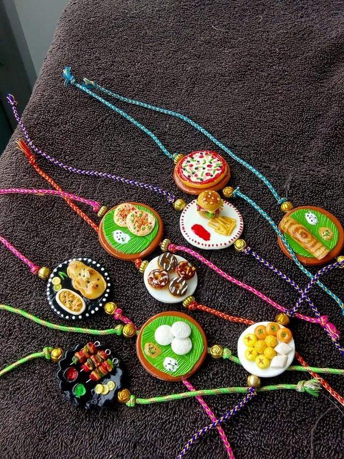 Beautiful Handmade Food Rakhi For brothers  food rakhi