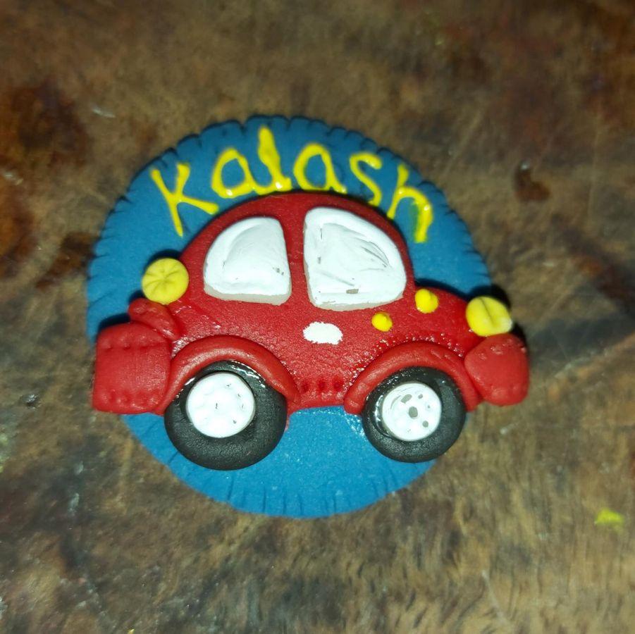 Handmade Customized Name Rakhi for Car lover Brother  Car rakhi