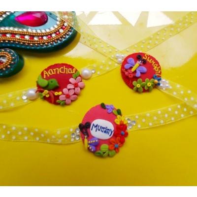 Handmade Designer Personalized Rakhi  personalized rakhi