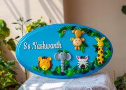 Buy Customized Wooden Nameplate Online In India Engraved nameplate designer kids name plate for children room maker near me