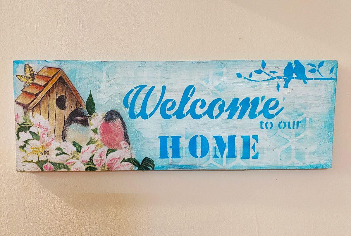 Designer Door Welcome Plate for Home  door plate