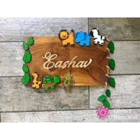 Beautiful Wooden Nameplate For Home In Chandigarh Engraved nameplate