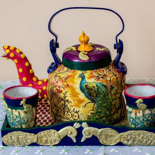 Peacock Themed Kettle Set