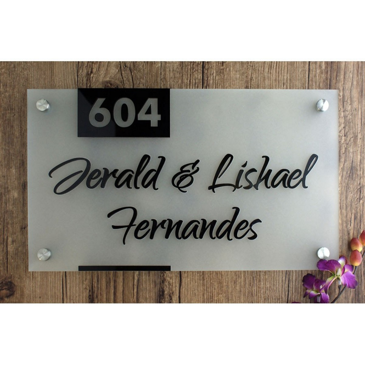 Customized Frosted Acrylic House Name Plate  frosted acrylic name plate