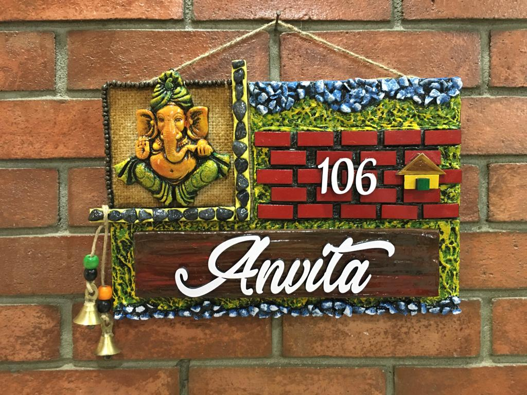 best handmade wooden nameplates for home