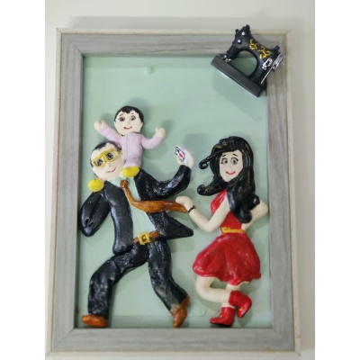 3D Personalized Clay Art Frame Desined for Indian Air Force  hand made home decor cocktail of thoughts hitchki 1 006 1