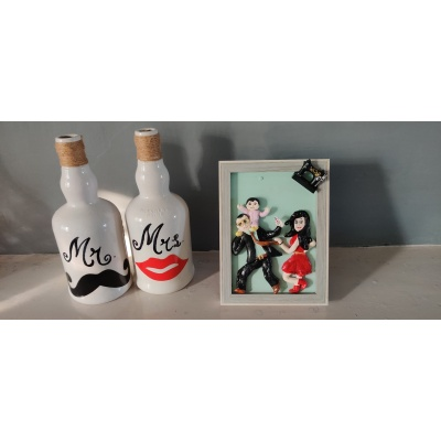 3D Personalized Clay Art Frame Desined for Indian Air Force  hand made home decor cocktail of thoughts hitchki 1 008 2