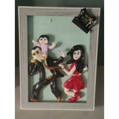 3D Personalized Clay Art Frame Desined for Indian Air Force  hand made home decor cocktail of thoughts hitchki 1 011 1