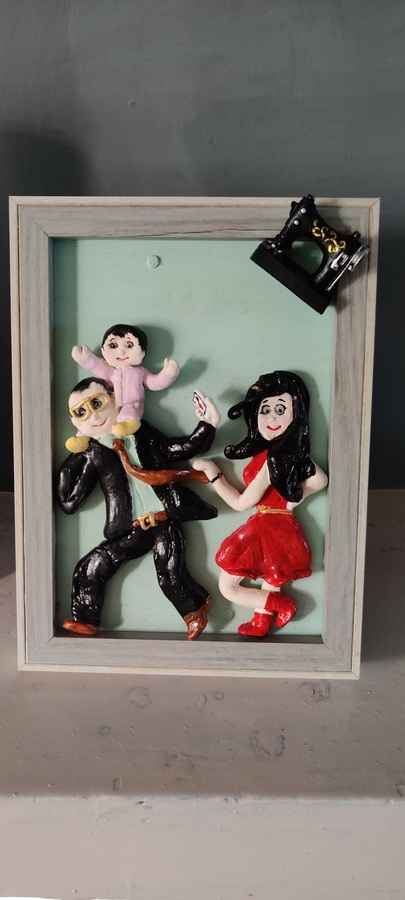 3D Personalized Clay Art Frame Desined for Indian Air Force  hand made home decor cocktail of thoughts hitchki 1 012 1
