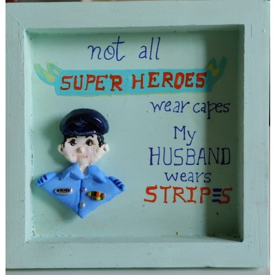 3D Custom Designed Clay Art Frame Desined for Indian Air Force  hand made home decor cocktail of thoughts hitchki 1 013