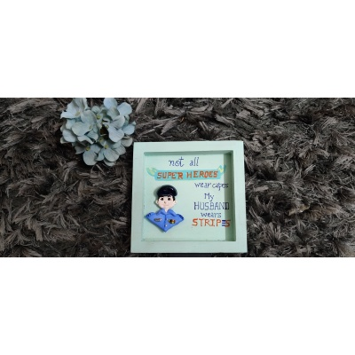 3D Custom Designed Clay Art Frame Desined for Indian Air Force  hand made home decor cocktail of thoughts hitchki 1 014
