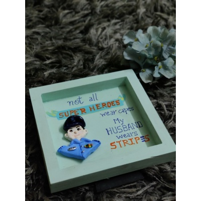 3D Custom Designed Clay Art Frame Desined for Indian Air Force  hand made home decor cocktail of thoughts hitchki 1 016