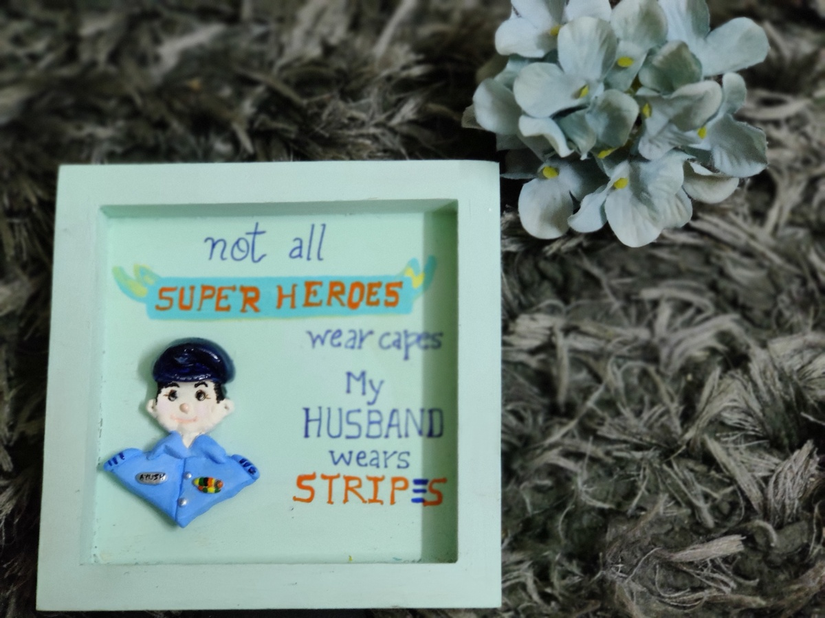 3D Custom Designed Clay Art Frame Desined for Indian Air Force  hand made home decor cocktail of thoughts hitchki 1 017 1