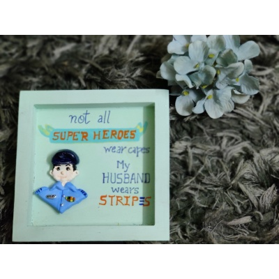 3D Custom Designed Clay Art Frame Desined for Indian Air Force  hand made home decor cocktail of thoughts hitchki 1 018