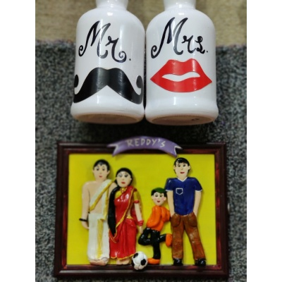 Customised 3D Family Frame  hand made home decor cocktail of thoughts hitchki 1 047
