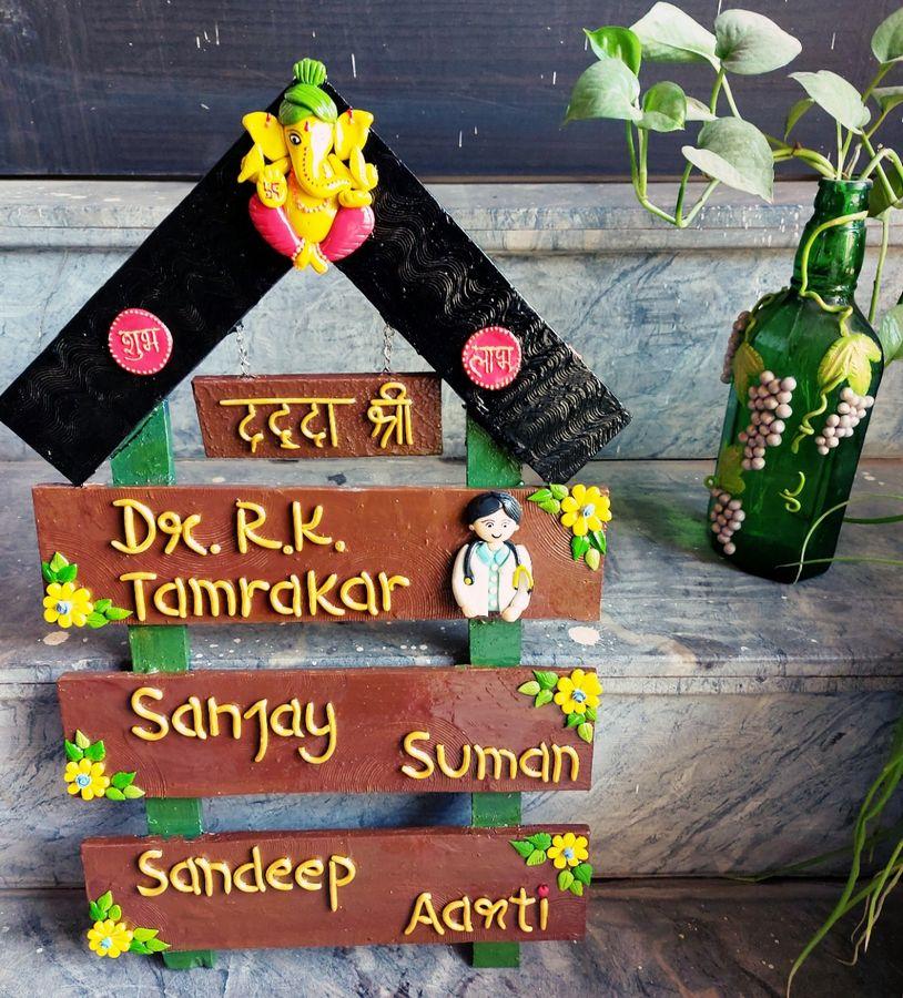 Customize Designer Handmade Joint Family Nameplate