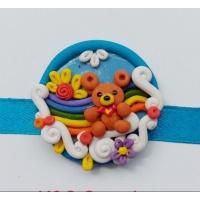 Beautiful handmade rainbow 🌈 rakhi