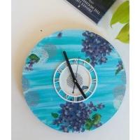 Handmade Blue Wall Clock For Living Room  Bedroom  wall decor items