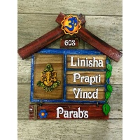 Customized Unique  Name Plate Design For Homes Engraved nameplate house name plate maker in bangalore mumbai delhi