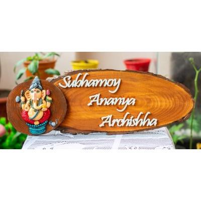 Ganesha Themed Name Plate Creative Corner  house main gate nameplate