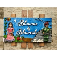 designer name plate-indian army name plate for security forces hand made wooden craft 003