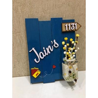 Glow vase Jugnu wooden nameplate  jain 2 glow vase jugnu woodennameplate