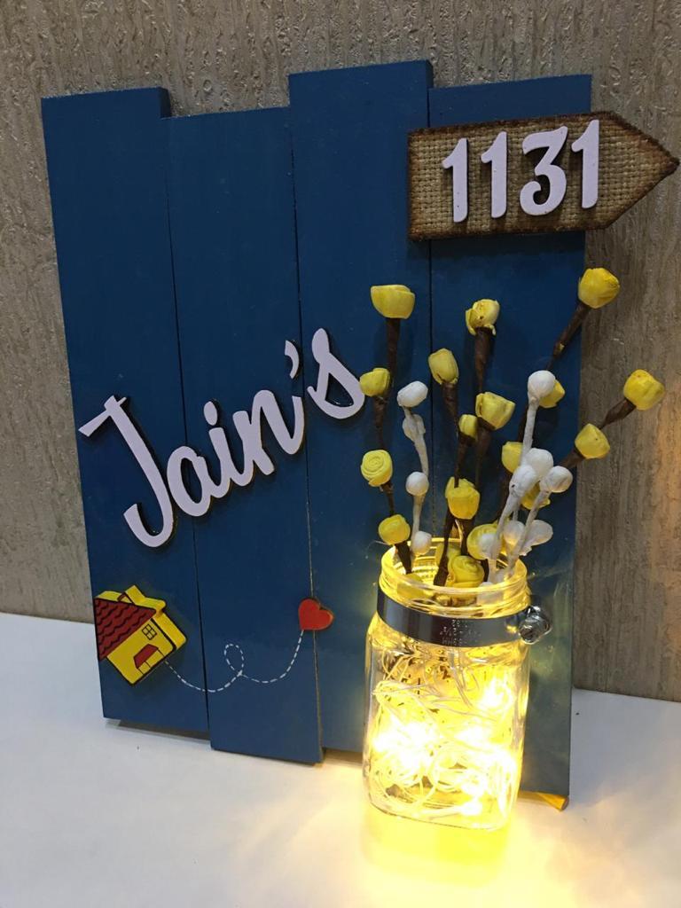 Best Handmade Gift Items Nameplate Key Holder Bangle Box Photo Frame Candles Hitchki jain 3 glow vase jugnu wooden name plate