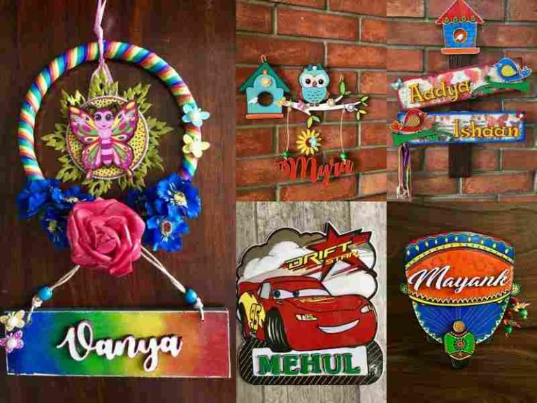 Personalized House Name Plates A Magical Touch Hitchki kids name plates small