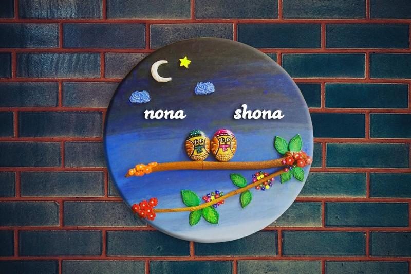 Wall Decor Handmade Custom Name Plate for Love