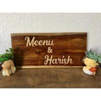 menu engraved nameplate