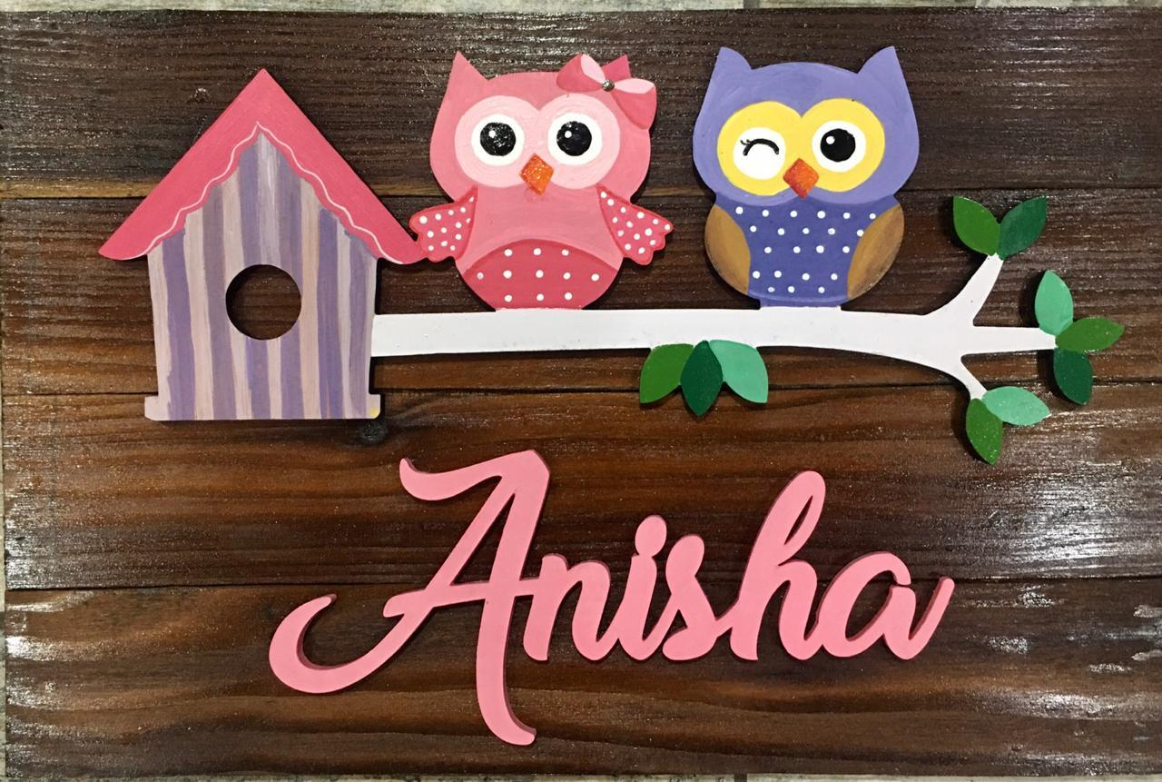 Cute Pink and Blue Kids Name Plate for Children  Cute Pink and Blue Kids Name Plate for Children