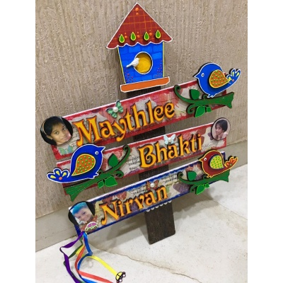 Kids Bird House Name Plate for Child Room3 Names  name plate for house near me 010