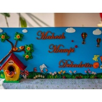 natural wood kids nameplate for house room 001 1