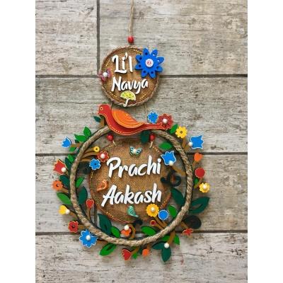 15 Name Plate Designs Image Idea Engraved nameplate navya circle of flower kidsnameplate