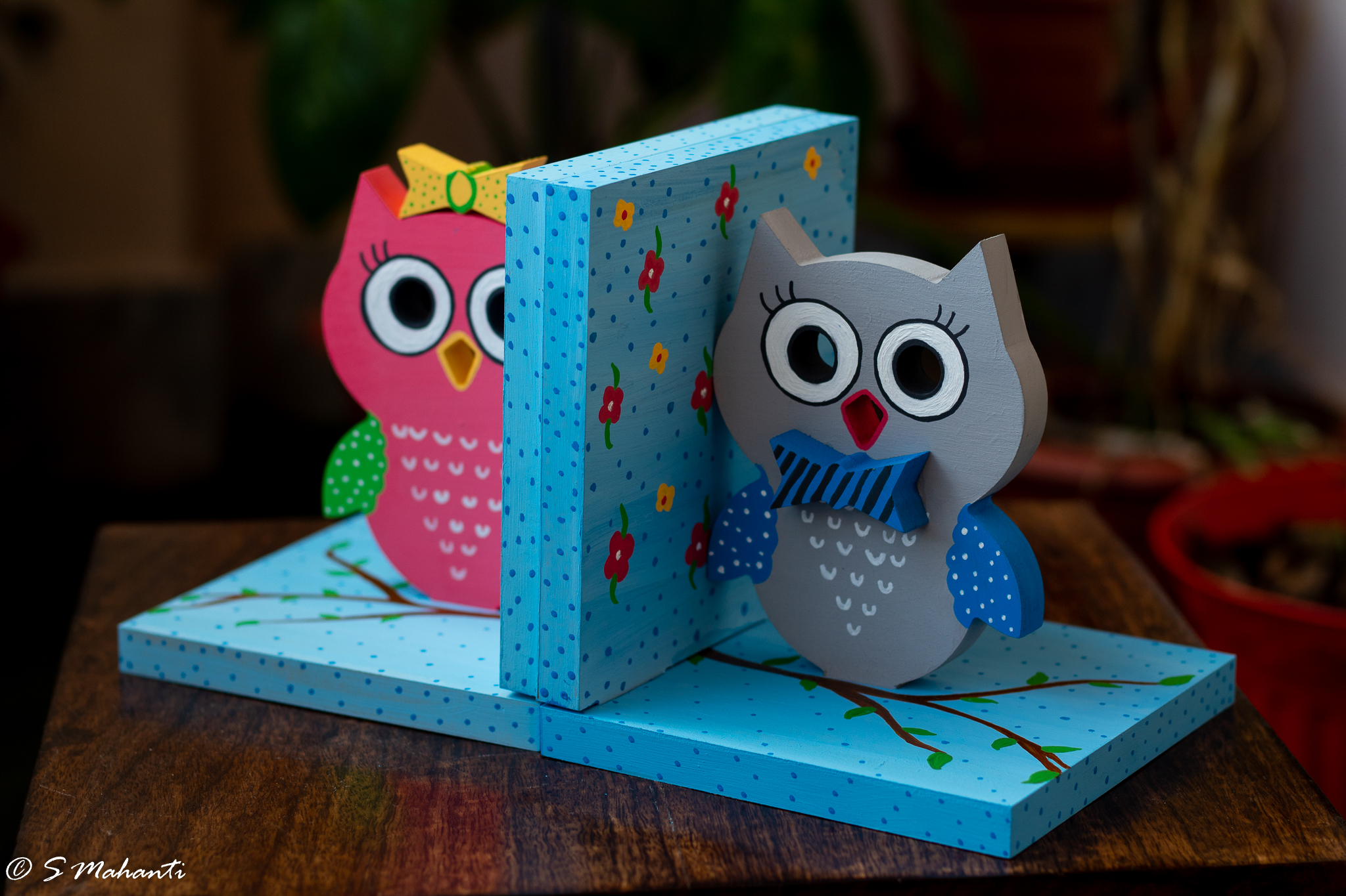 Creative Corner Owl Themed wooden book end  owl themed book end