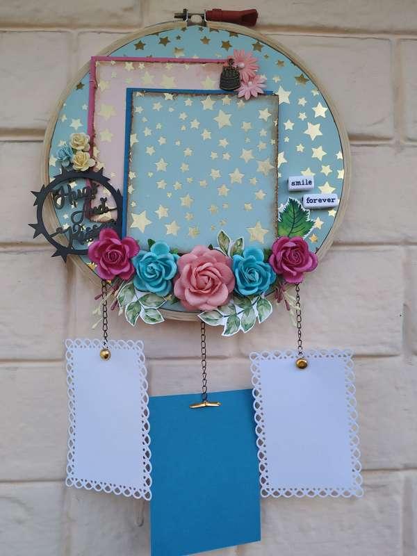 The Pink Umbrella  Blue Gold Foil Memory Catcher  pink umbrella hitchki creative handmade gifts 02 0006
