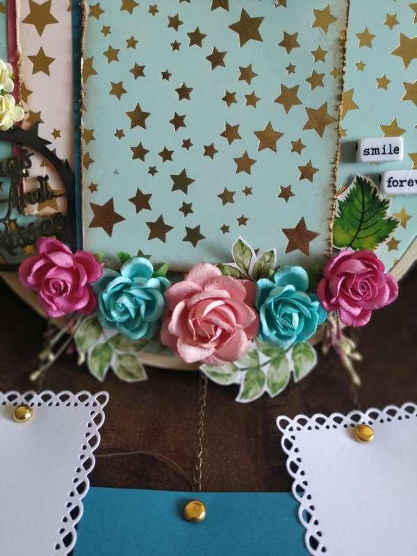 The Pink Umbrella  Blue Gold Foil Memory Catcher  pink umbrella hitchki creative handmade gifts 02 0009