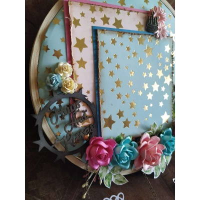 The Pink Umbrella  Blue Gold Foil Memory Catcher  pink umbrella hitchki creative handmade gifts 02 0010