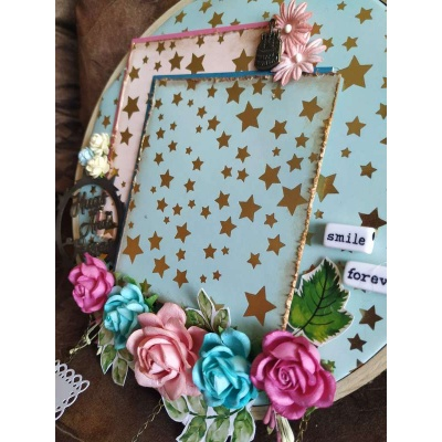The Pink Umbrella  Blue Gold Foil Memory Catcher  pink umbrella hitchki creative handmade gifts 02 0011